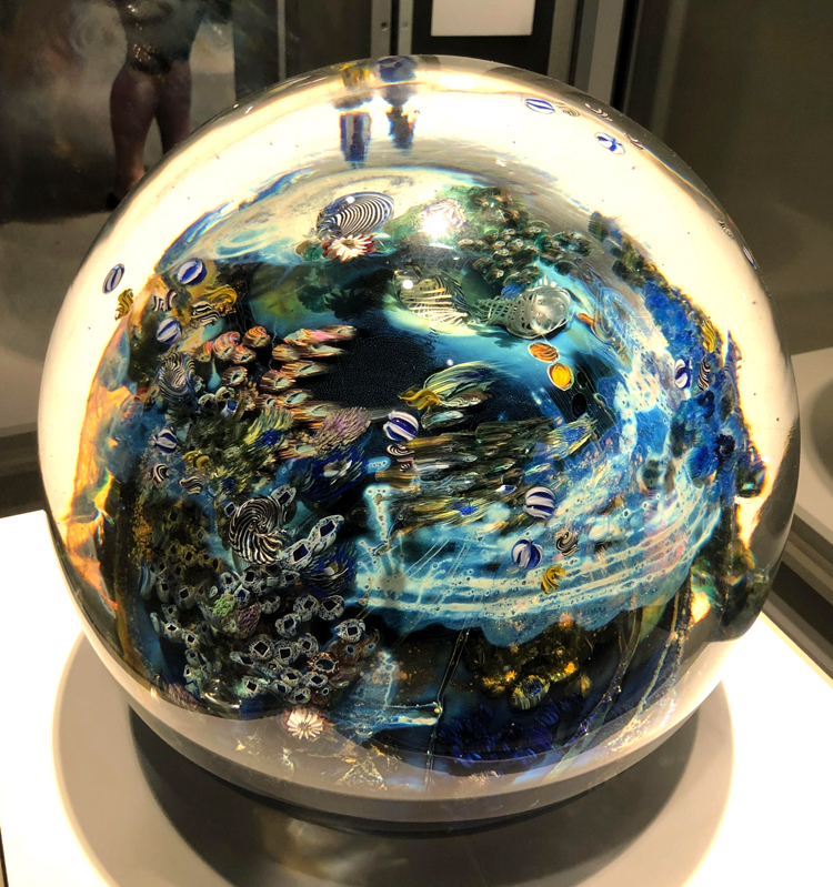 Megaplanet paperweight at Corning Glass Museum