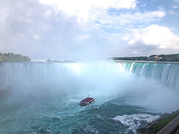view of Niagara Falls from the Canadian side