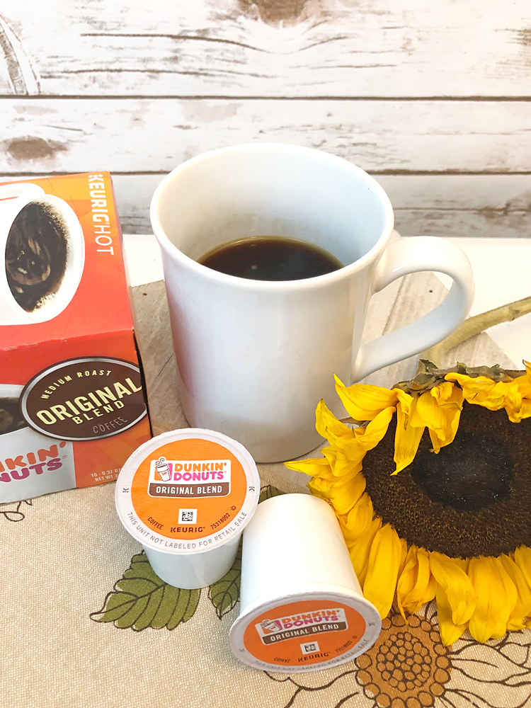Dunkin Donuts coffee is perfect for an afternoon coffee break when you need an energy boost