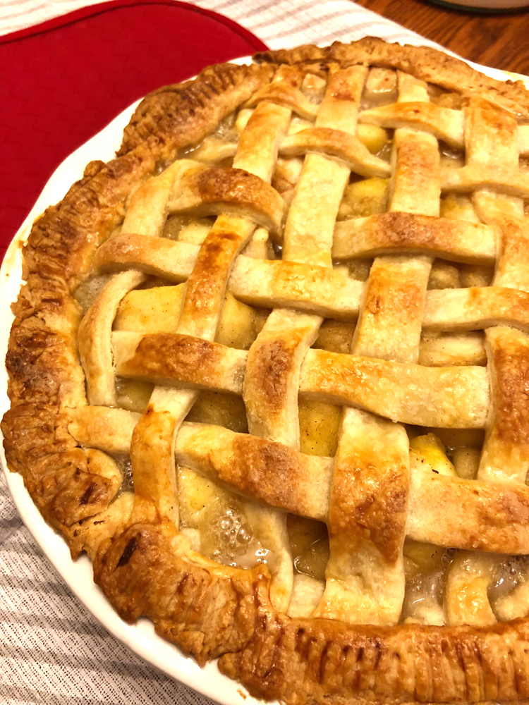 easy recipe for a baked apple pie