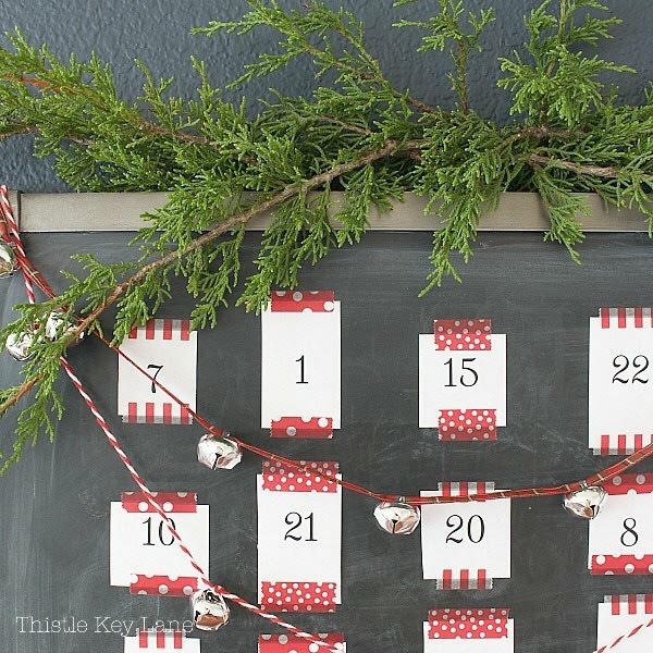 I love this adorable DIY chalkboard advent calendar with fun activities!