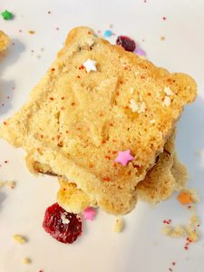 I love this recipe for easy but delicious cranberry shortbread cookies