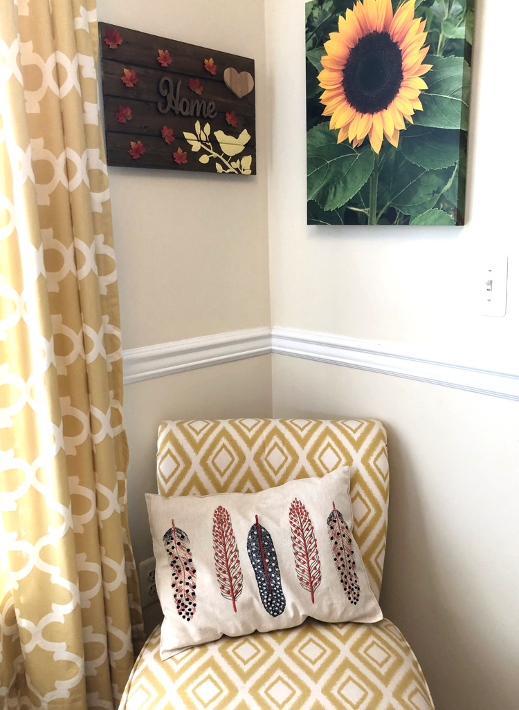 I love the sunflower print Canvas Factory made for my home. Stop by Mom Home Guide for a chance to win a custom photo canvas of your own.