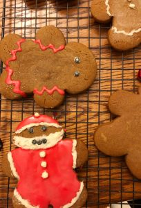 I love this easy and delicious recipe for decorated gingerbread men for the holidays.