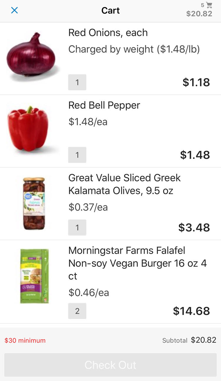 The Walmart Grocery Pickup app is a convenient way to get everything I need for my family's meals
