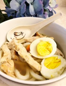 I love this simple, yet flavorful chicken udon soup recipe