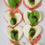 Caprese Salad with Mozzarella Hearts & Recipes for Valentine's Day