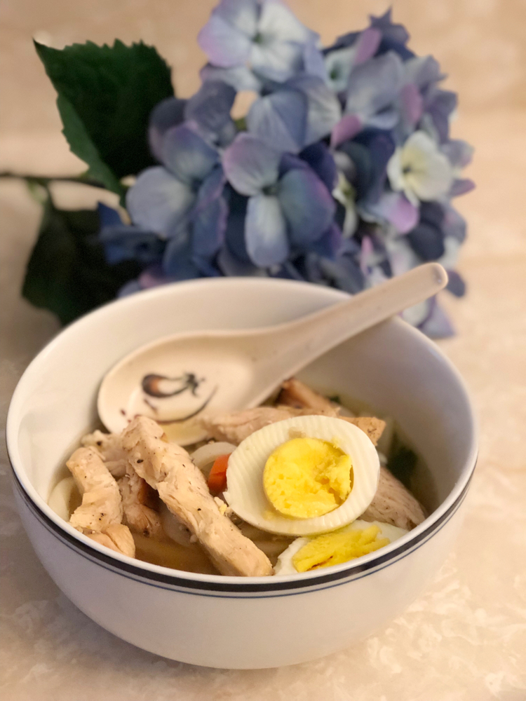 I love this easy and delicious recipe for chicken udon soup
