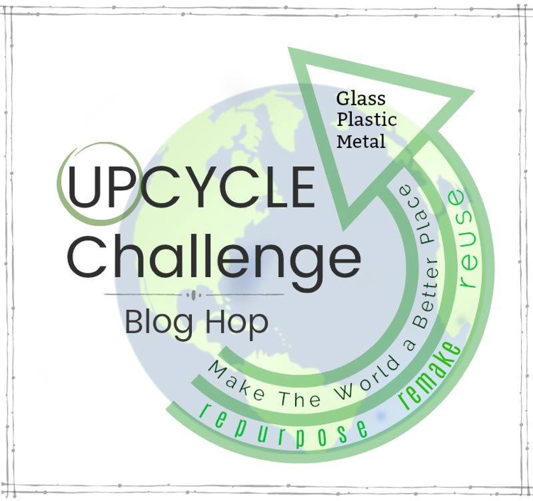 Upcycle challenge blog hop - create something new from a used glass, metal or plastic item