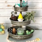 Garden Gnome Spring Tiered Tray