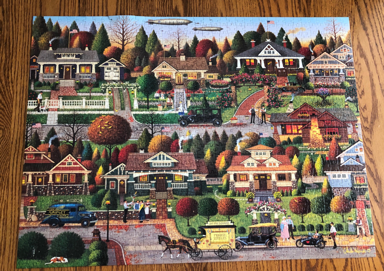 A Day in Bungalowville jigsaw puzzle by Charles Wysocki