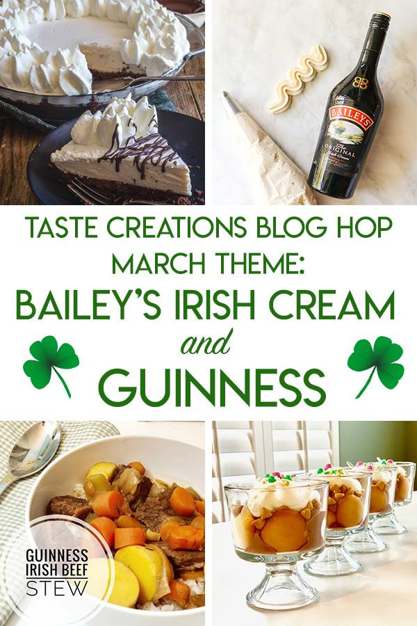 Irish recipes for St. Patrick's Day with Guinness beer and Baileys whiskey