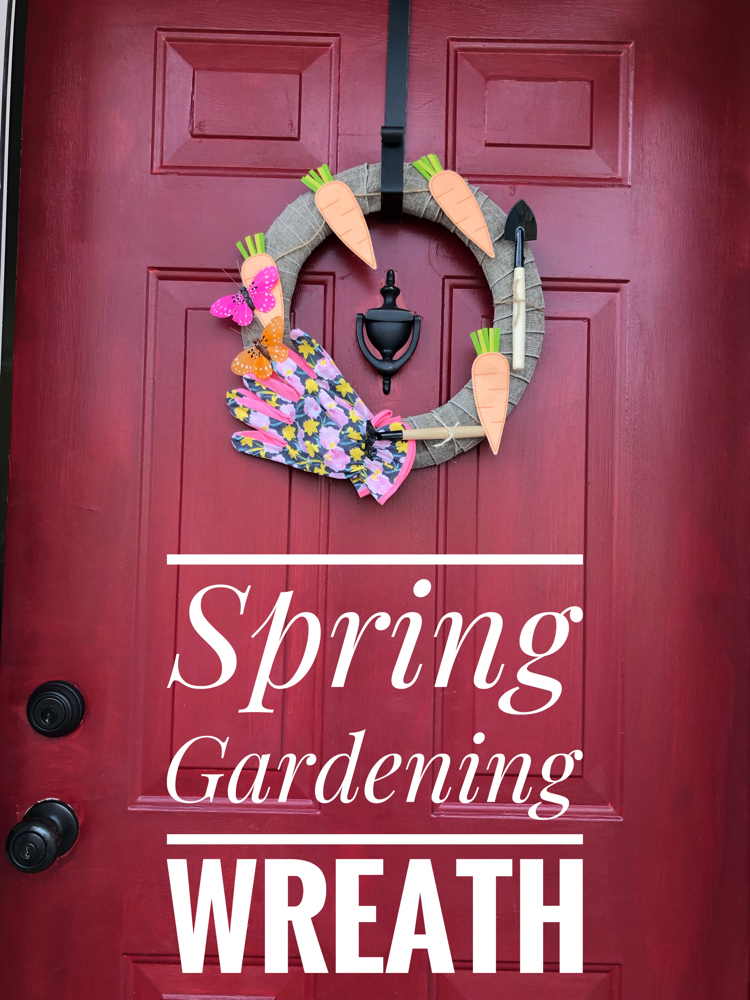 A simple and beautiful DIY spring gardening wreath