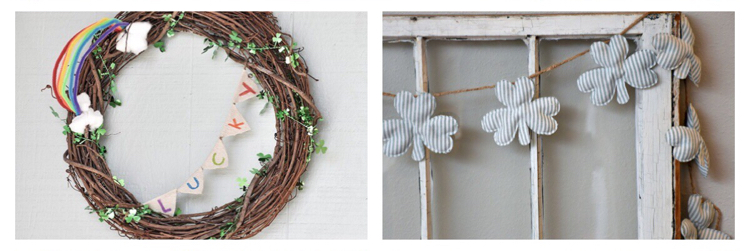 DIY St. Patrick's Day wreath and banner