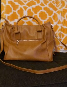 Mustard yellow, zippered top purse from Stitch Fix