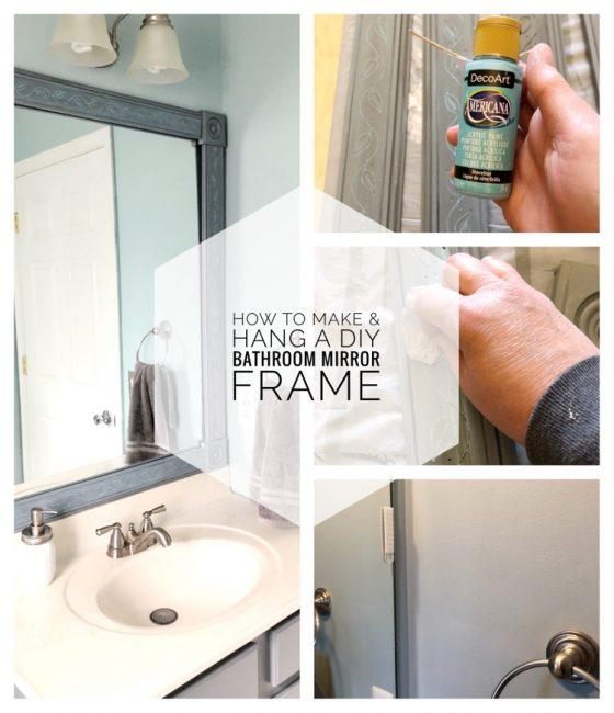 I love this easy tutorial for making a DIY bathroom mirror frame