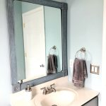 DIY Bathroom Mirror Frame — One Room Challenge Week 4