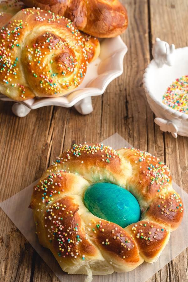 Italian Easter brioche bread by An Italian in My Kitchen