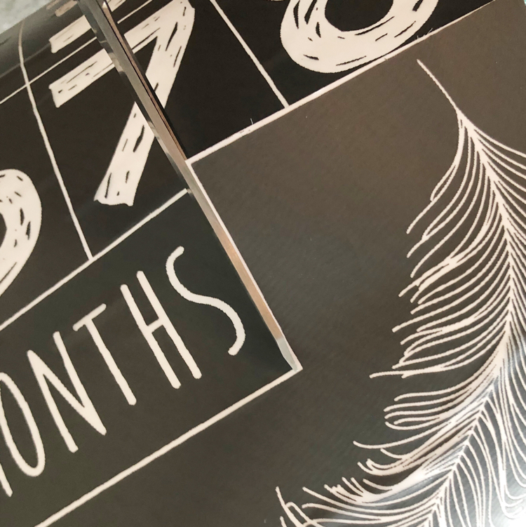 feather art and number stencils from A Maker's Studio