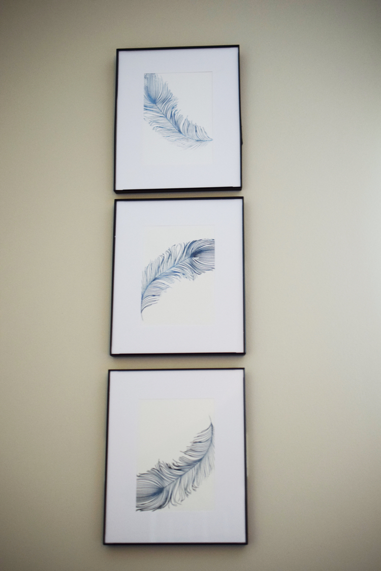 easy DIY stenciled wall art