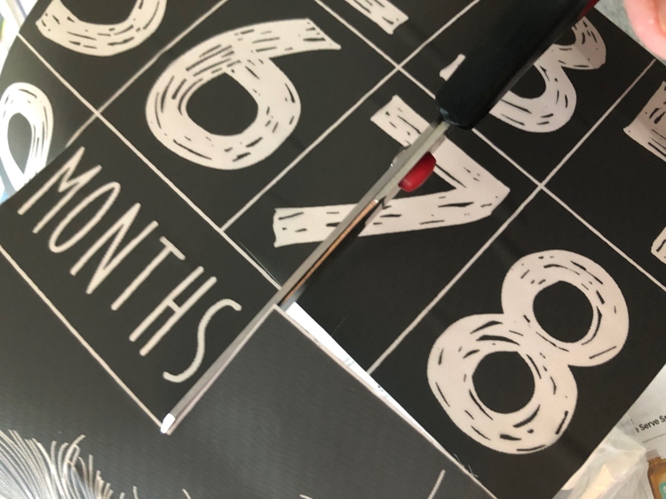 number stencils from A Maker's Studio