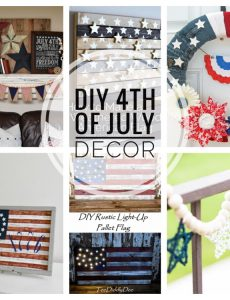 I love these beautiful DIY 4th of July decor ideas!