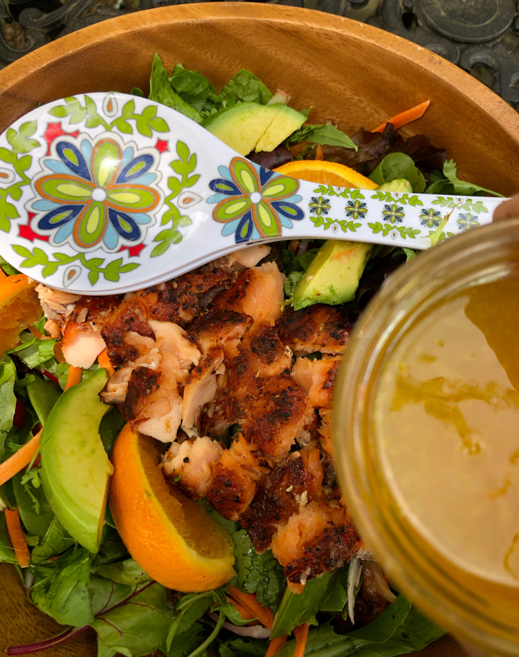 I love this delicious recipe for smoky orange-ginger salmon salad