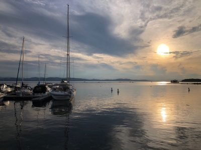 The beautiful Lake Champlain waterfront in Burlington, Vt