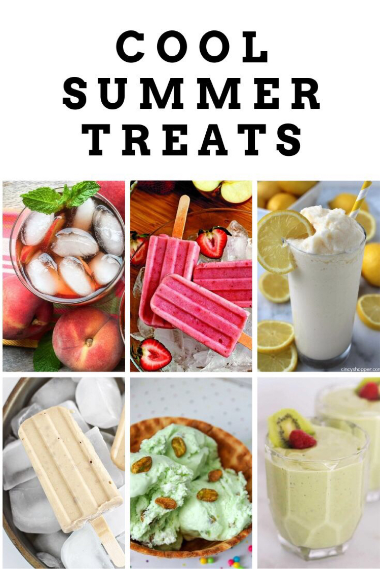 6 delicious cool summer treats recipes -- ice cream, popsicles, smoothies and iced tea.