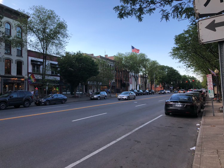 downtown Saratoga Springs, NY