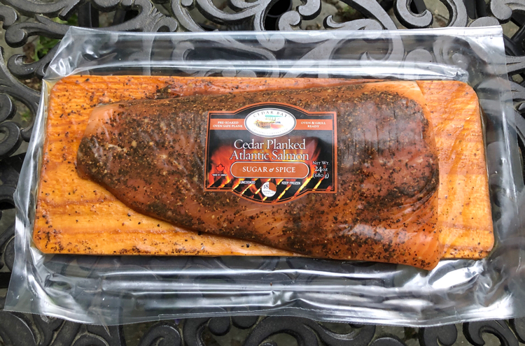 Sugar and spice planked salmon from Cedar Bay Grilling Company
