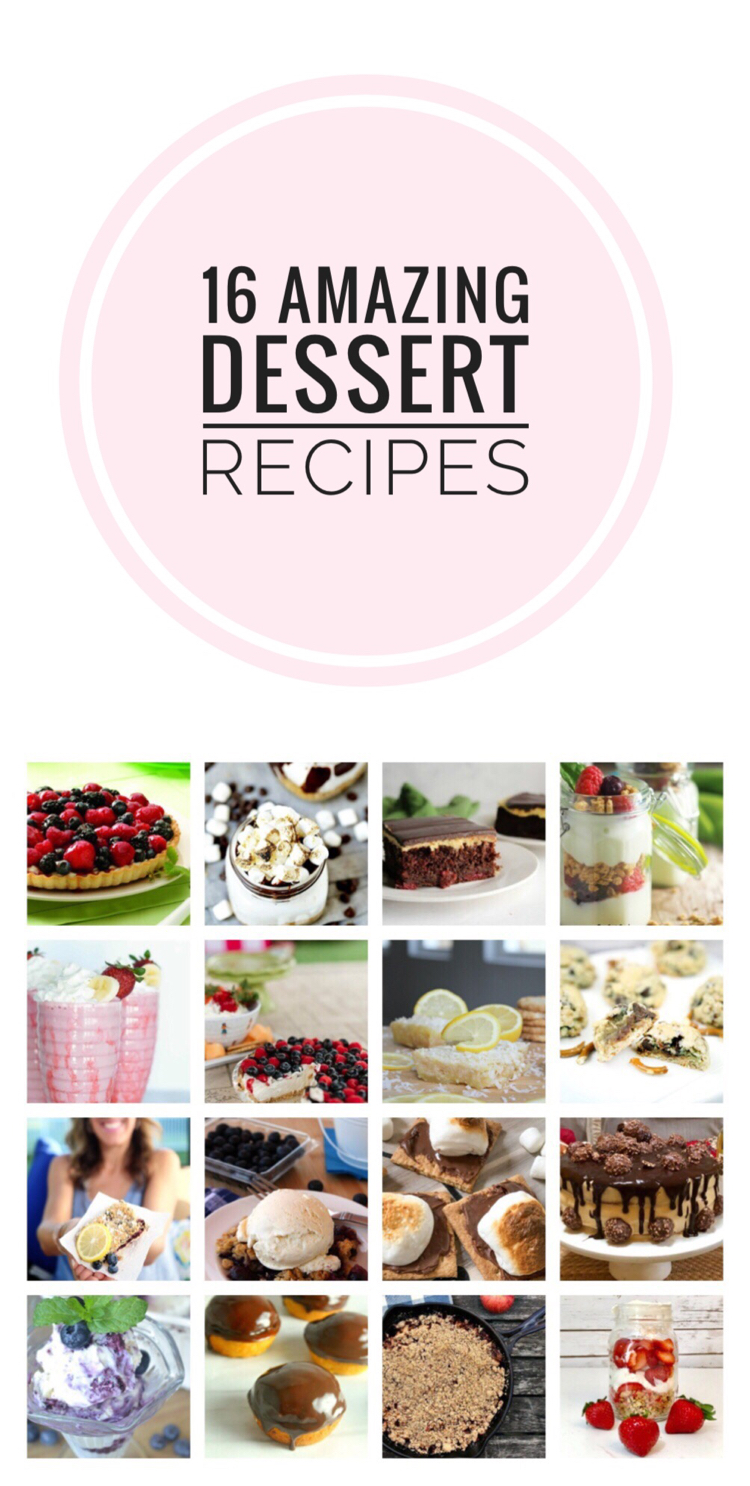 16 amazing dessert recipes