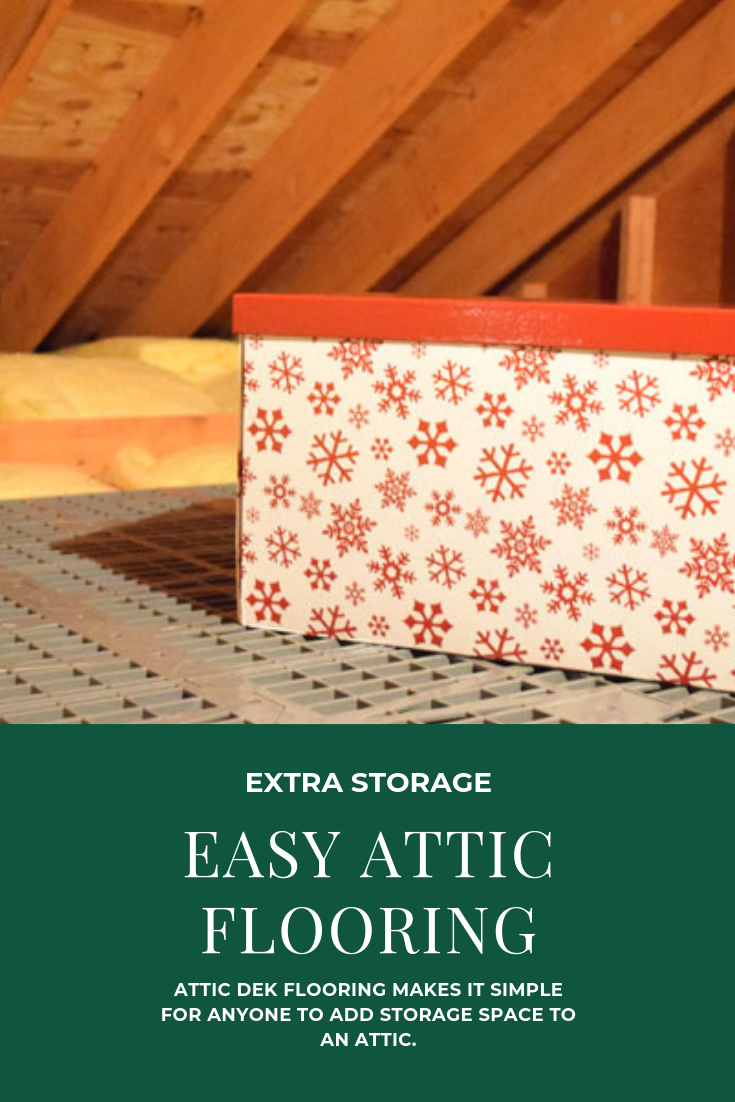 Attic Dek panels make it super easy to add flooring to an attic and gain storage space in your home.