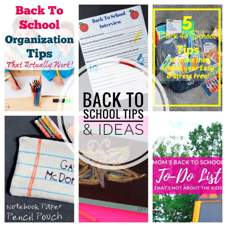 These back to school tips and ideas will make the school year run smoothly for you and your kids.
