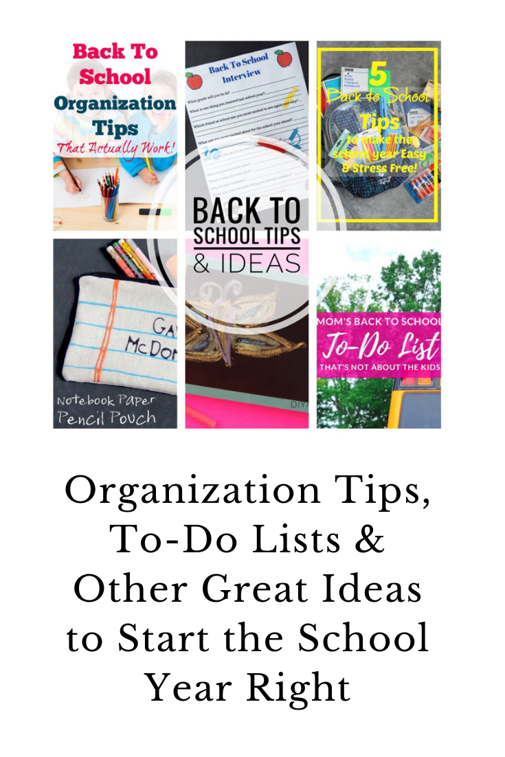 Back to school ideas: Organization ideas, to-do lists and everything you need for your kids to start the new year out right.