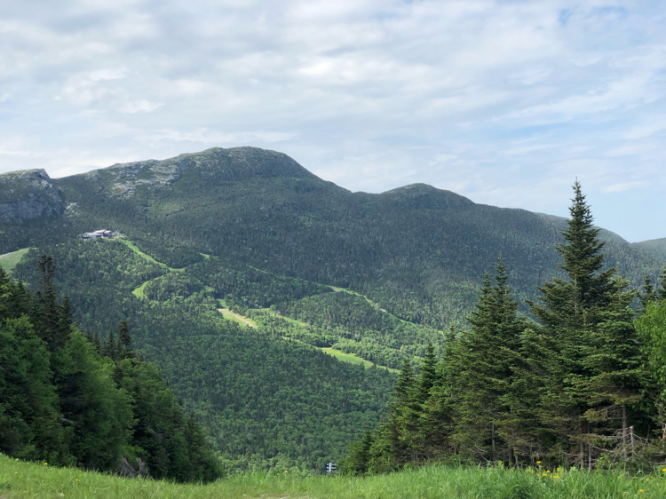 Some of the views that can be seen from the auto toll road in Stowe, Vermont .