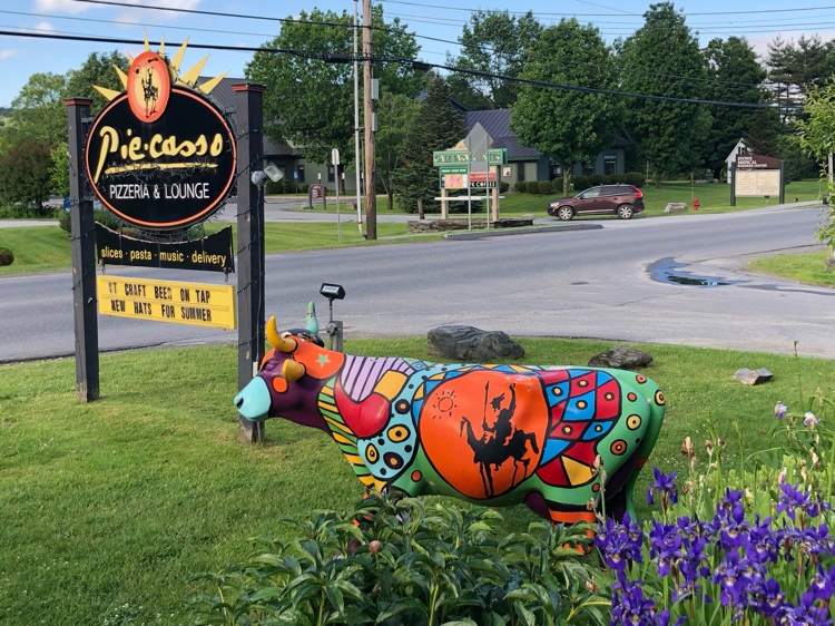 Piecasso serves delicious hand-tossed pizza in Stowe, Vt.