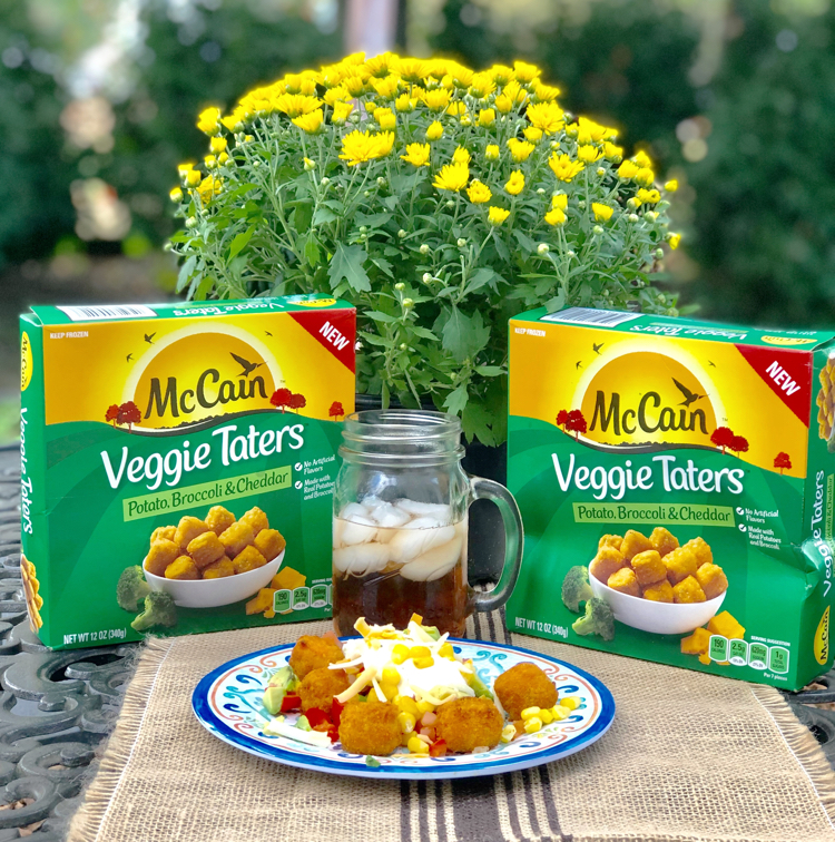 McCain's Veggie Taters with potato, broccoli and cheese are a delicious afternoon snack.