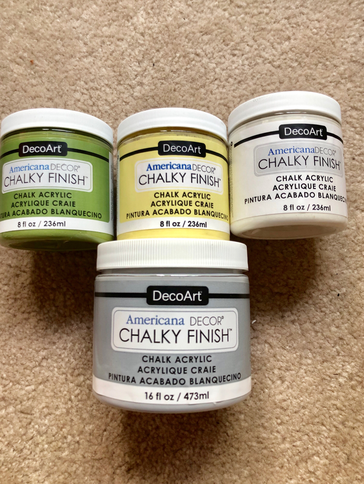 Decoart chalky finish paint is great for all sorts of projects
