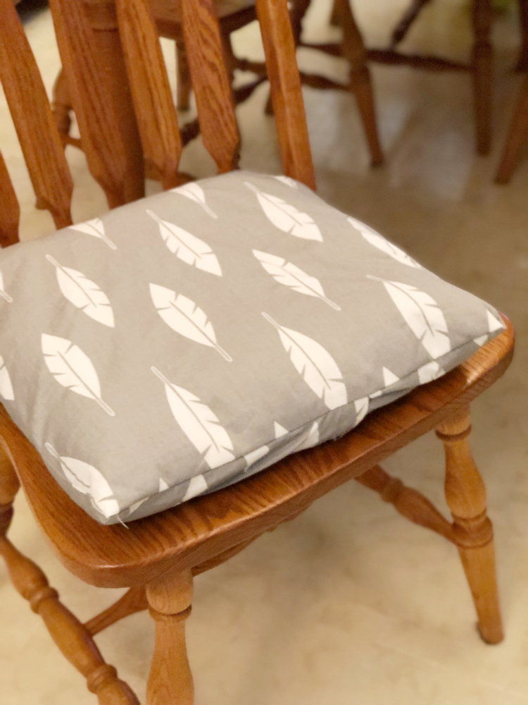 DIY envelope covers for kitchen chair cushions