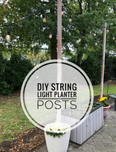 how to make DIY string light posts to light up your patio