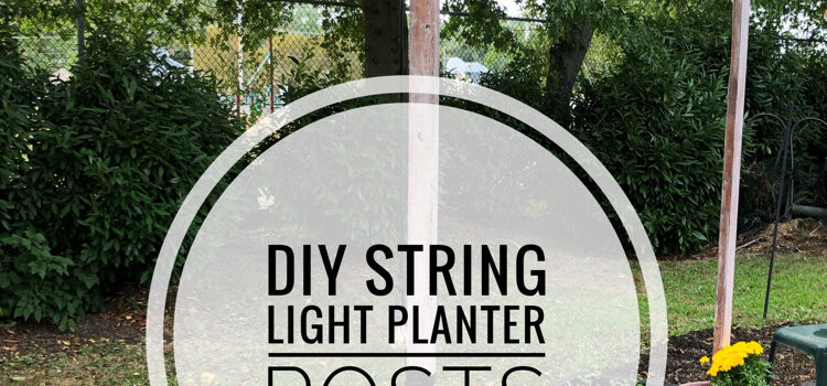 DIY String Light Planter Posts