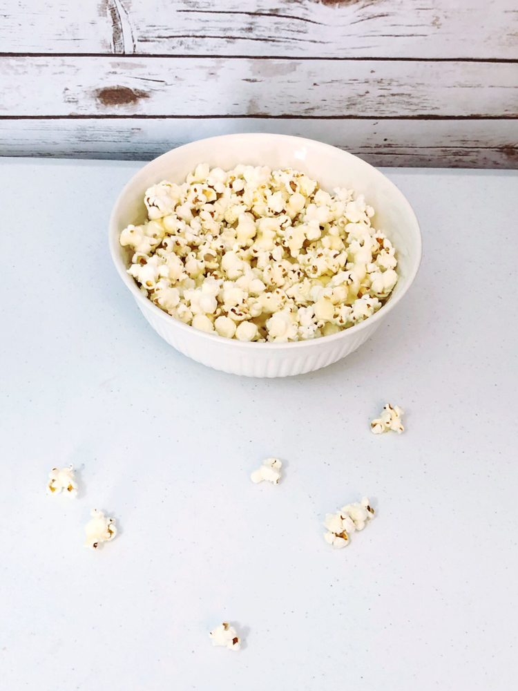 Super  easy recipe for sweet and salty kettle corn.  Kettle popcorn is coated for sugar, salt and butter for an super yummy trea