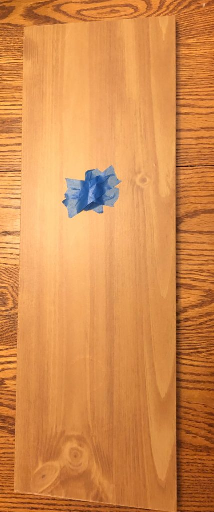wood board on a kitchen table