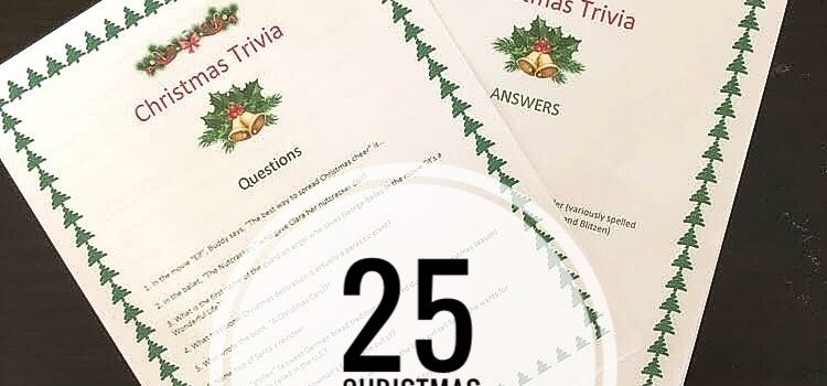 Christmas Trivia for Family Game Nights & Holiday Parties