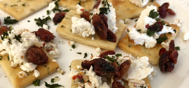 Cranberry and Basil Goat Cheese Appetizers