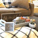Easy Fall Thanksgiving Coffee Table Decor