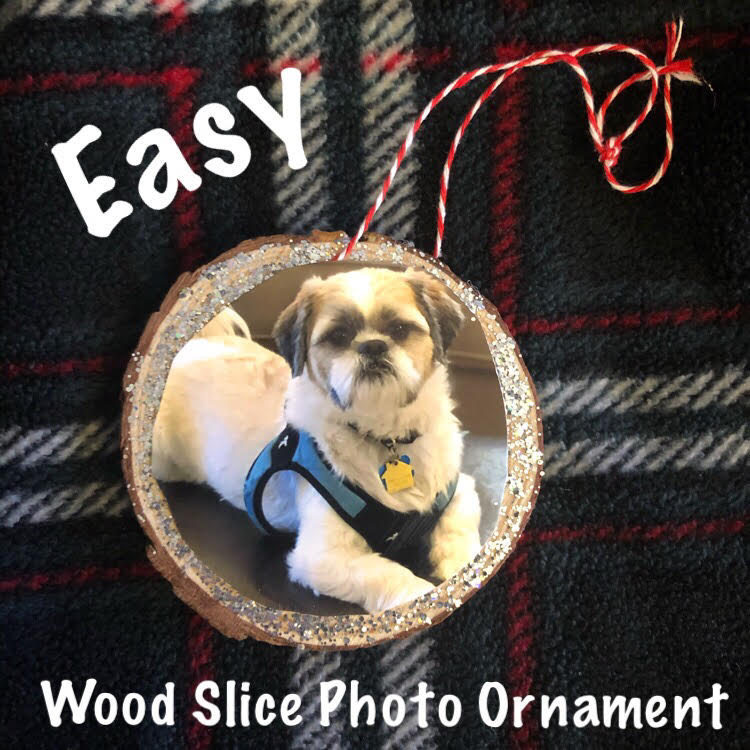 Easy wood slice photo ornaments