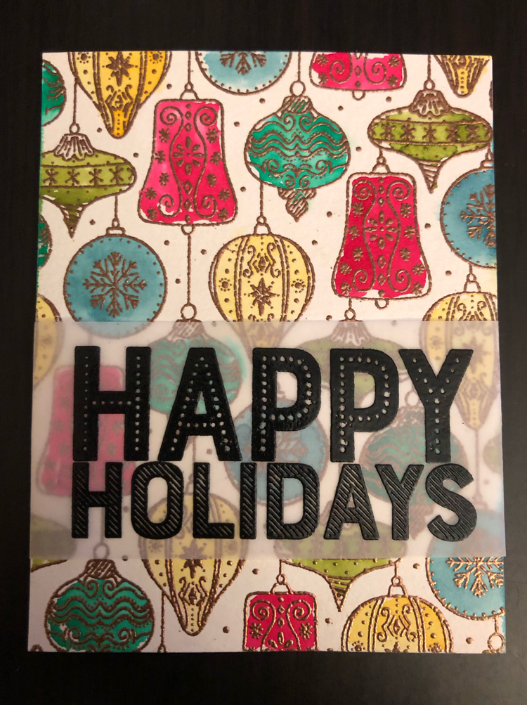 a beautiful handmade holiday card