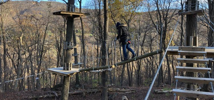 Zip Lining at TreEscape at Mountain Creek Resort in Vernon, NJ